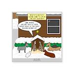 Live Yard Nativity Square Sticker 3