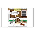 Live Yard Nativity Sticker (Rectangle 50 pk)