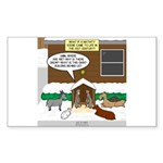 Live Yard Nativity Sticker (Rectangle)