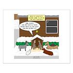 Live Yard Nativity Small Poster
