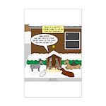 Live Yard Nativity Mini Poster Print