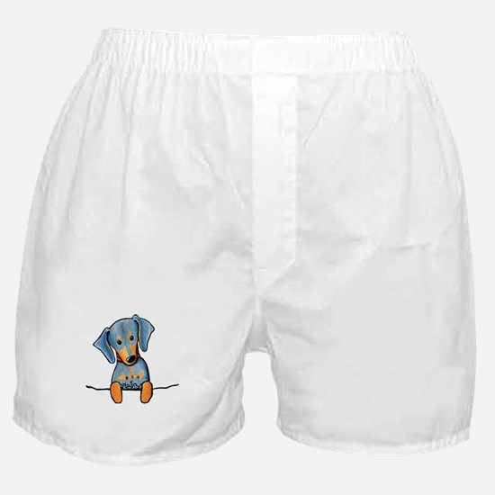 Black Pocket Dachsie Boxer Shorts