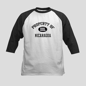 Property of Nicaragua Kids Baseball Jersey