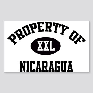 Property of Nicaragua Rectangle Sticker