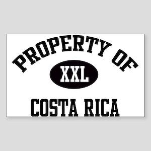 Property of Costa Rica Rectangle Sticker