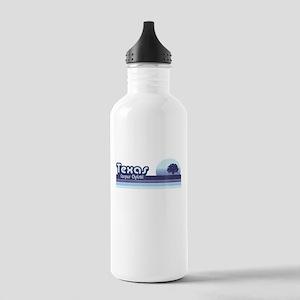 Corpus Christi Blue Retro Stainless Water Bottle 1
