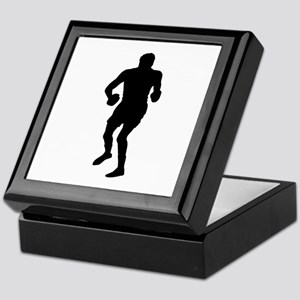Boxing Silhouette Keepsake Box