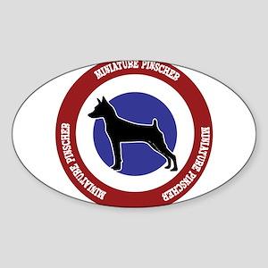 Miniature Pinscher Bullseye Sticker (Oval)