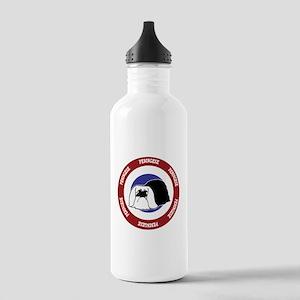 Pekingese Bullseye Stainless Water Bottle 1.0L