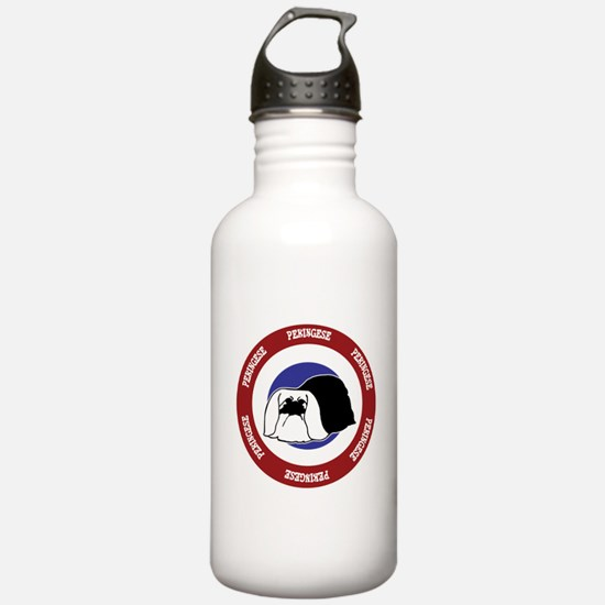 Pekingese Bullseye Water Bottle