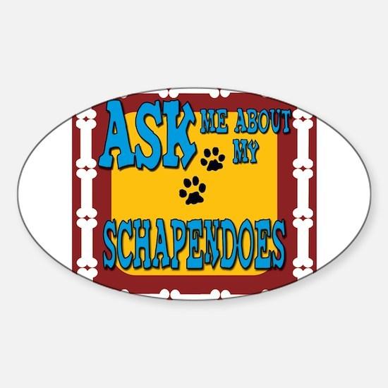 Schapendoes Sticker (Oval)