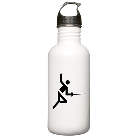 Fencing Silhouette Stainless Water Bottle 1.0L