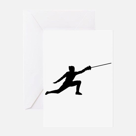 Fencing Lunge Greeting Card