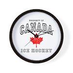Canada Hockey Wall Clock