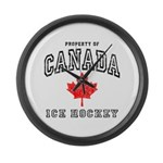 Canada Hockey Large Wall Clock