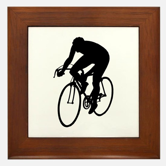 Cycling Silhouette Framed Tile