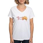 Aussie Groundfighter Women's V-Neck T-Shirt