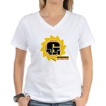 Ground fighter G Women's V-Neck T-Shirt