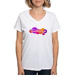 BJJ Girls Hug til It Hurts Women's V-Neck T-Shirt