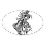 kuuma dragon select Sticker (Oval 50 pk)