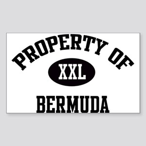 Property of Bermuda Rectangle Sticker