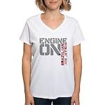 Engine On BJJ Women's V-Neck T-Shirt