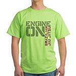Engine On BJJ Green T-Shirt