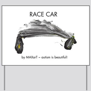Race Car by MAXarT Yard Sign