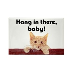 Hang In There Baby Rectangle Magnet