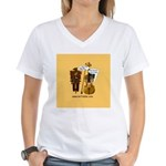 mrfiddlewear Women's V-Neck T-Shirt