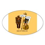 mrfiddlewear Sticker (Oval 50 pk)