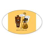 mrfiddlewear Sticker (Oval 10 pk)