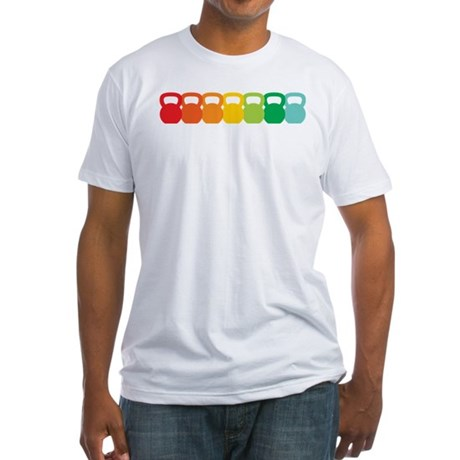 Kettlebell Spectrum Fitted T-Shirt