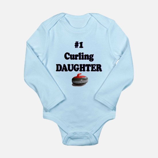 #1 Curling Daughter Long Sleeve Infant Bodysuit