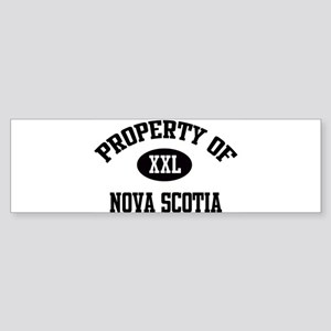 Property of Nova Scotia Bumper Sticker