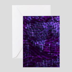 Batik Jewels - Purple Greeting Card