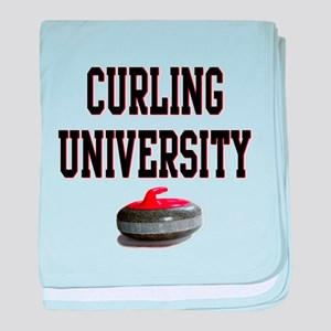 Curling University baby blanket