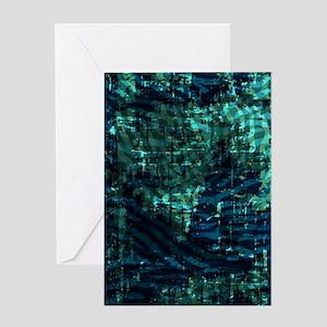 Batik Jewels - Turq Greeting Card