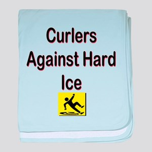 Curlers Against Hard Ice baby blanket