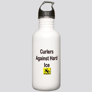 Curlers Against Hard Ice Stainless Water Bottle 1.