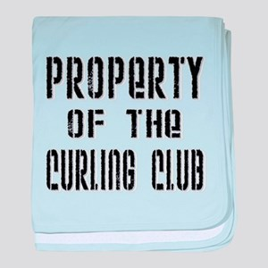 Property of the Curling Club baby blanket