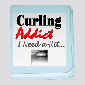 Curling Addict (Hit) baby blanket