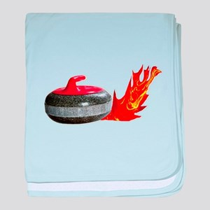 Flaming Rock baby blanket