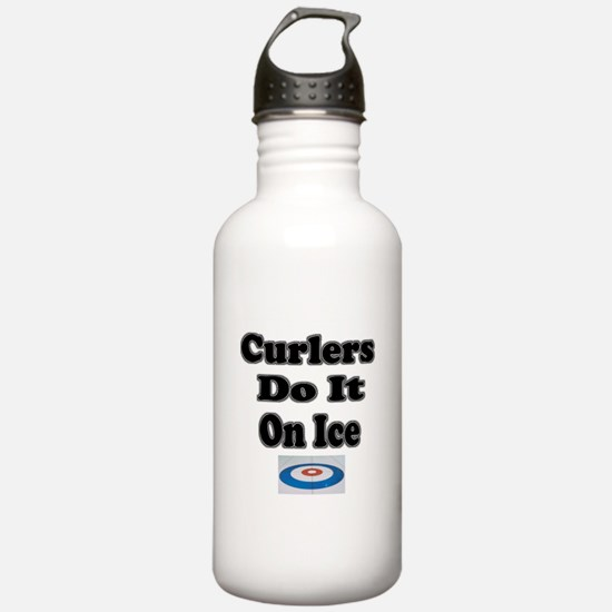 Curlers Do It On Ice Water Bottle