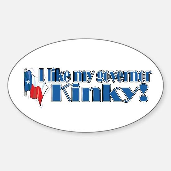 Kinky for Governor Oval Decal