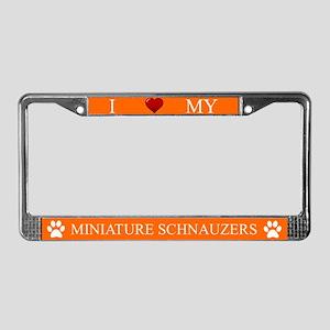 Orange I Love My Miniature Schnauzers Frame