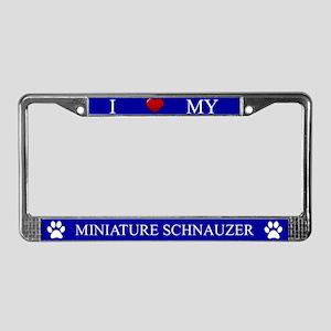 Blue I Love My Miniature Schnauzer Frame
