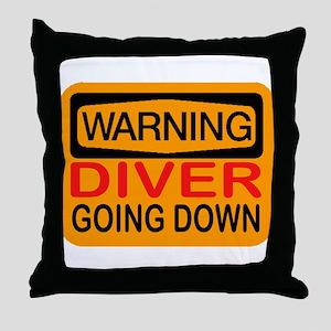GOING DOWN Throw Pillow