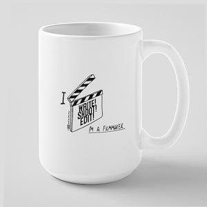 Write Shoot Edit Filmmaker (white BG) Mugs