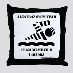 Alcatraz Swim Team Throw Pillow